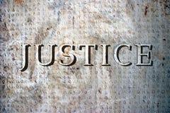 δικαιοσύνη Στοκ φωτογραφία με δικαίωμα ελεύθερης χρήσης