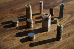 διόγκωση νομίσματος Στοκ φωτογραφία με δικαίωμα ελεύθερης χρήσης