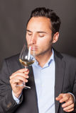 Δοκιμάζοντας κρασί ατόμων Στοκ φωτογραφία με δικαίωμα ελεύθερης χρήσης