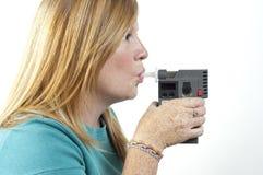 δοκιμή αναπνοής Στοκ φωτογραφία με δικαίωμα ελεύθερης χρήσης