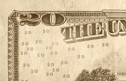 δολάριο είκοσι λογαρι&a Στοκ Εικόνα