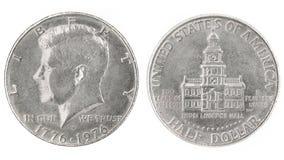 δολάριο μισό Στοκ φωτογραφία με δικαίωμα ελεύθερης χρήσης