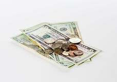 δολάριο νομισμάτων λογα& Στοκ εικόνες με δικαίωμα ελεύθερης χρήσης