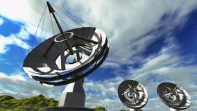 Δορυφορικά πιάτα Στοκ Εικόνες