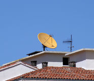 δορυφορική τηλεόραση κ&epsi Στοκ εικόνα με δικαίωμα ελεύθερης χρήσης