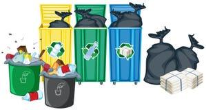 Δοχεία σκουπιδιών Στοκ φωτογραφίες με δικαίωμα ελεύθερης χρήσης