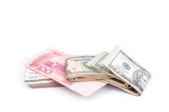Δολάριο ΗΠΑ και RMB κινέζικα Στοκ φωτογραφίες με δικαίωμα ελεύθερης χρήσης
