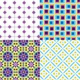 Δροσερά κιβώτια λουλουδιών σχεδίων αναδρομικά Στοκ Εικόνες