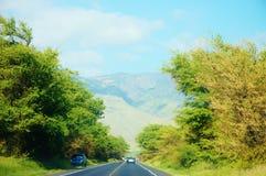Δρόμος από το kihei στο maalaea στο κράτος Maui Χαβάη Στοκ Φωτογραφία