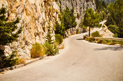 Δρόμος βουνών στην Ελλάδα Στοκ Φωτογραφία