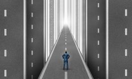 Δρόμος επιχειρηματιών Στοκ Εικόνες