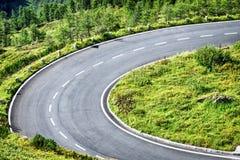 Δρόμος με πολλ'ες στροφές Στοκ Εικόνες