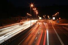 δρόμος νύχτας Στοκ φωτογραφία με δικαίωμα ελεύθερης χρήσης