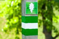 Δρύινο σημάδι πάρκων Στοκ Εικόνες