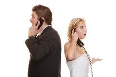 Δυσκολίες σχέσης γαμήλιων ζευγών Στοκ εικόνα με δικαίωμα ελεύθερης χρήσης