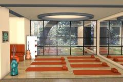 Δωμάτιο για την άσκηση youga Στοκ εικόνες με δικαίωμα ελεύθερης χρήσης