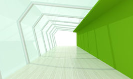 Δωμάτιο γυαλιού πράσινο Στοκ εικόνα με δικαίωμα ελεύθερης χρήσης