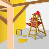 Δωμάτιο κάτω από την κατασκευή Στοκ φωτογραφία με δικαίωμα ελεύθερης χρήσης