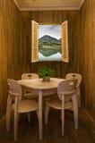 Δωμάτιο σκάκι-και-καρτών όχθεων της λίμνης Στοκ Φωτογραφίες