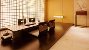 Δωμάτιο τσαγιού στη βίλα Στοκ εικόνες με δικαίωμα ελεύθερης χρήσης