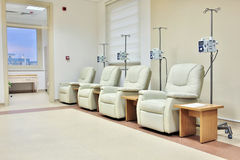 Δωμάτιο χημειοθεραπείας θεραπείας του καρκίνου Στοκ εικόνα με δικαίωμα ελεύθερης χρήσης