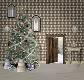 Δωμάτιο Χριστουγέννων φαντασίας Στοκ φωτογραφίες με δικαίωμα ελεύθερης χρήσης