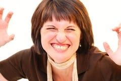 δόντια βρυχηθμού μορφασμού Στοκ φωτογραφίες με δικαίωμα ελεύθερης χρήσης