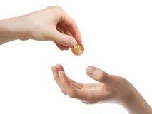 δόσιμο των χρημάτων Στοκ Εικόνα