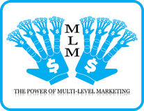 Δύναμη του πολλαπλής στάθμης χεριού μάρκετινγκ MLM Στοκ Εικόνα