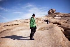 Δύο αδελφοί στα βουνά ερήμων Στοκ Φωτογραφία