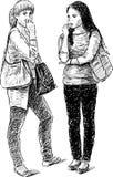 Δύο κορίτσια Στοκ Εικόνα