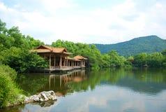 δύση τοπίου λιμνών hangzhou Στοκ φωτογραφία με δικαίωμα ελεύθερης χρήσης