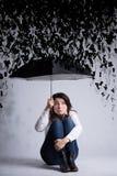 Δύσκολη περίοδος στη ζωή της γυναίκας Στοκ φωτογραφίες με δικαίωμα ελεύθερης χρήσης
