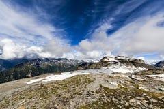 Δύσκολο τοπίο βουνών Στοκ Φωτογραφίες