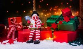 Δώρα Χριστουγέννων, διακόσμηση Χριστουγέννων Στοκ φωτογραφία με δικαίωμα ελεύθερης χρήσης