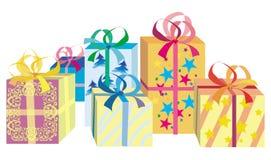δώρα Χριστουγέννων κιβωτίων Στοκ εικόνα με δικαίωμα ελεύθερης χρήσης