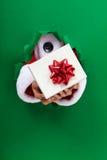 Δώρο Χριστουγέννων που δίνεται σε σας Στοκ εικόνα με δικαίωμα ελεύθερης χρήσης