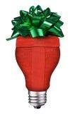δώρο lightbulb Στοκ εικόνα με δικαίωμα ελεύθερης χρήσης
