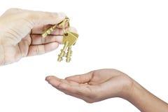 Давать 3 латунных ключа Стоковые Фото