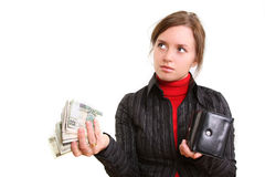 давать деньги Стоковое Изображение RF
