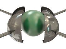 давление шарика зеленое вниз Стоковые Фото