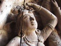 Дама высекая на святилище правды Стоковое Фото