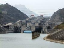 Дамба (Три ущелья) в Китае Стоковые Изображения