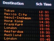 данные по доски авиапорта Стоковые Изображения