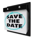 дата календара сохраняет стену Стоковые Изображения RF