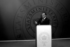 датское главный министра lokke lars rasmussen Стоковые Фото