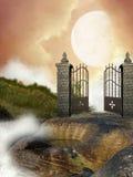 двери раскрывают Стоковые Изображения RF