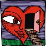Дверь и влюбленность Стоковые Фото
