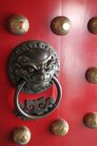 дверь фарфора китайская нашла протектор льва knocker Стоковые Изображения RF
