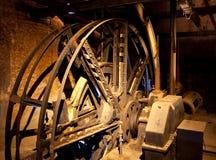 Двигатель для лифта минируя вала Стоковое фото RF